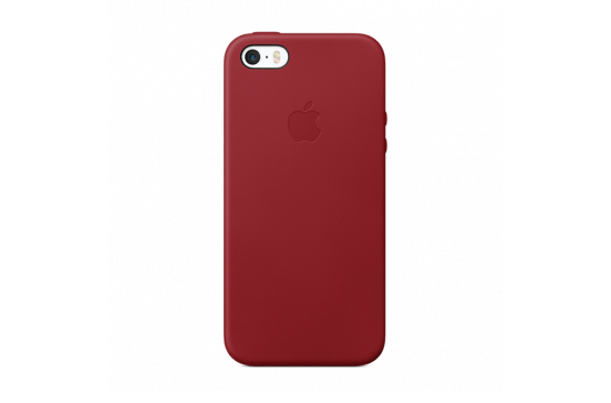 Apple Leren Hoes voor iPhone SE - (PRODUCT)RED