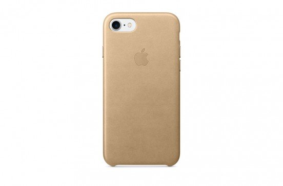 Apple Coque en cuir pour iPhone 7 - Beige
