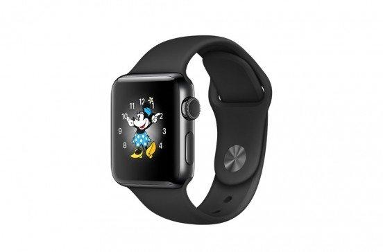 Apple Watch Series 2 - 38mm - Boîtier en acier inoxydable gris sidéral - Bracelet sport noir
