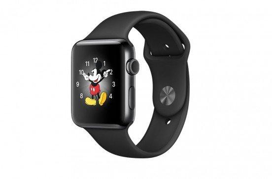 Apple Watch Series 2 - 42mm - Boîtier en acier inoxydable gris sidéral - Bracelet sport noir