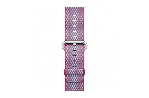 watchband-bessenrood geruit-geweven-38mm.png