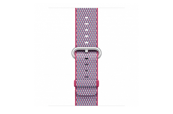watchband-bessenrood geruit-geweven-42mm.png