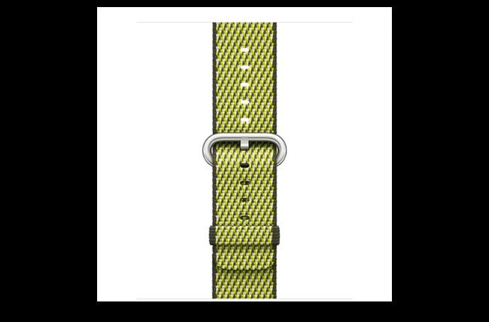 watchband-donker olijfgroen geruit-geweven-42mm.png