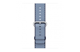 watchband-middernachtblauw geruit-geweven-38mm.png