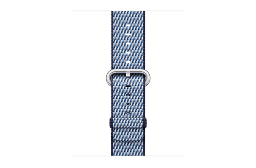 watchband-middernachtblauw geruit-geweven-38mm.png