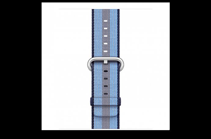 watchband-middernachtblauw gestreept-geweven-42mm.png