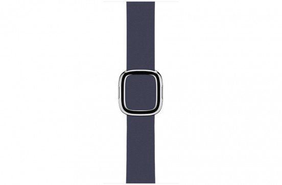 Apple Watch 38mm Middernachtblauw Bandje - Moderne Gesp - Large