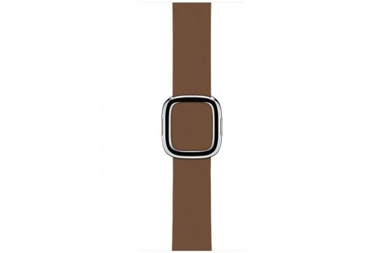 Apple Watch 38mm Bruin Bandje - Moderne Gesp - Large