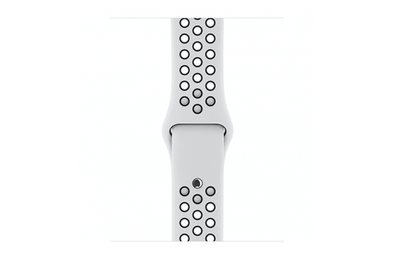 watchband-platinum zwart-nike sport-42mm.png