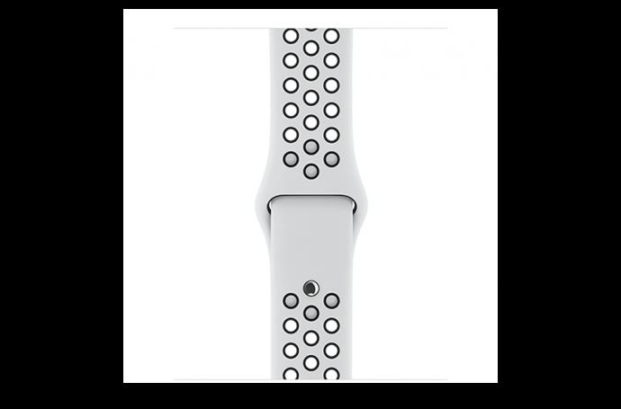 watchband-platinum zwart-nike sport-42mm.png