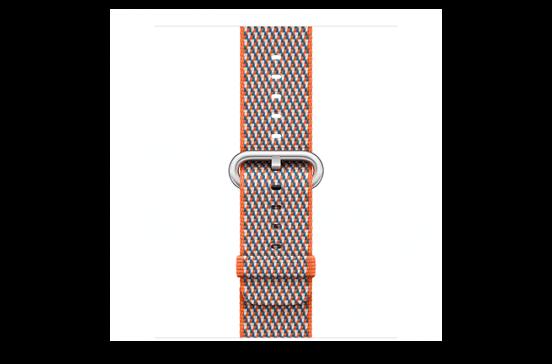 watchband-sinaasappel geruit-geweven-38mm.png