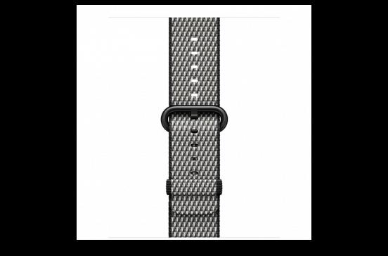watchband-zwart geruit-geweven-38mm.png