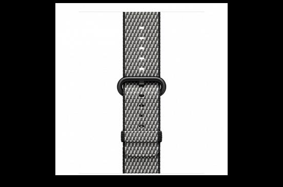 watchband-zwart geruit-geweven-42mm.png