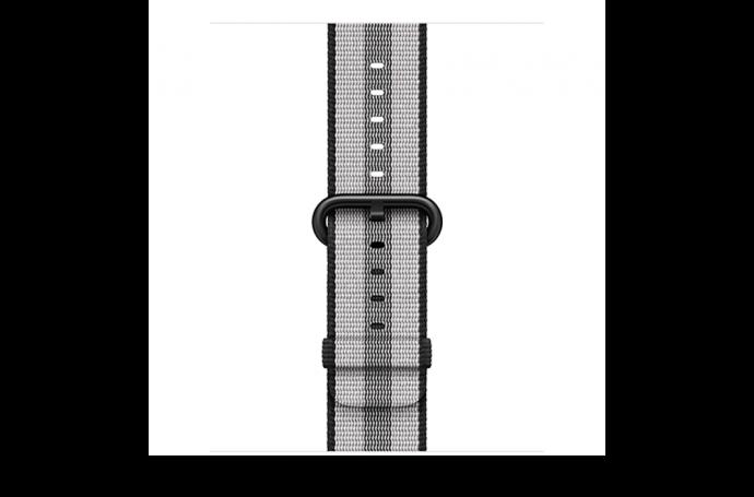 watchband-zwart gestreept-geweven-42mm.png