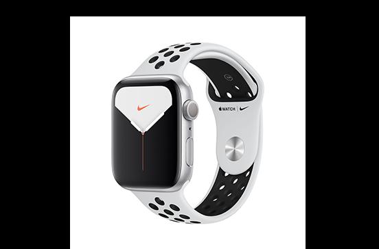 https://dpyxfisjd0mft.cloudfront.net/lab9-2/Shop/Productpages%20-%2010092019/Apple%20Watch%20Series%205/Apple%20Watch%20Series%205%20Nike/WatchSeries5Nike-44mm-AluminumSilver-SportBand-PlatinumBlack-01.png?1568204226&w=552&h=364