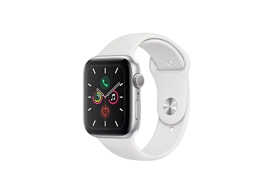 WatchSeries5-44mm-AluminumSilver-SportBand-White-01.png