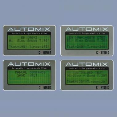 Volledig automatische mortelmengers, AUTOMIX EN 196-3 | EN 459-2 | EN 413-2 | EN 196-1 | EN ISO 679 fully automatic mortar mixers automix