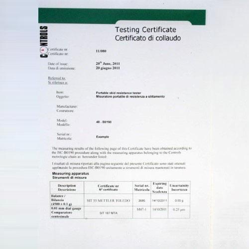 Pendule de frottement EN 1341 | EN 1342 | EN 1338 | EN 1097-8 | ASTM E303 | EN 13036-4