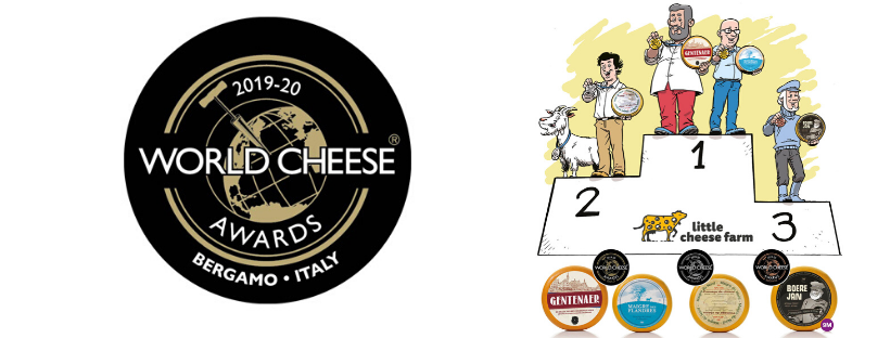 Op de World Cheese Awards in Bergamo, Italië vielen onze kazen in de prijzen. We wonnen maar...
