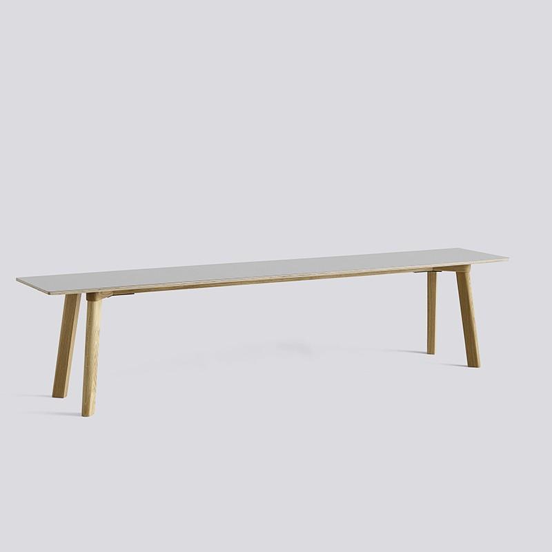 CPH Deux 215 Bench L200xW35xH45 Oak matt lacquer-Light grey laminate_HAY_Livingdesign.jpg