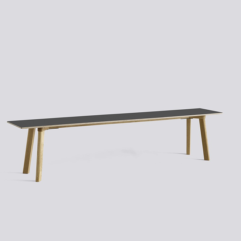 CPH Deux 215 Bench L200xW35xH45 Oak matt lacquer-dark grey laminate_HAY_Livingdesign.jpg