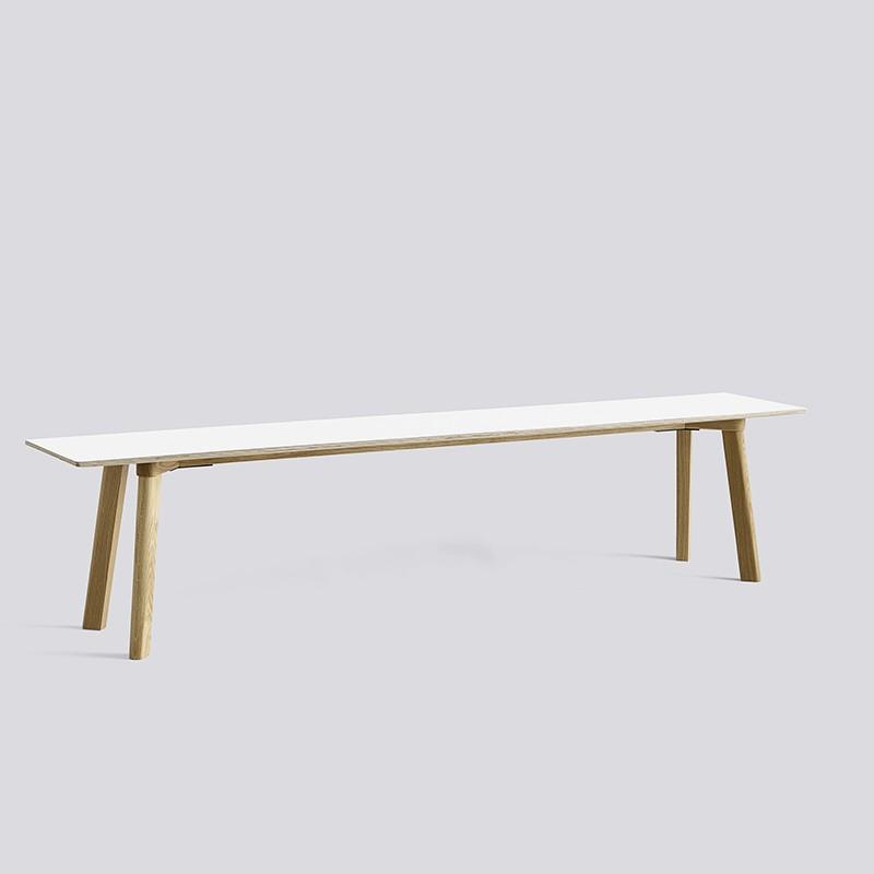 CPH Deux 215 Bench L200xW35xH45 Oak matt lacquer-white laminate_HAY_Livingdesign.jpg