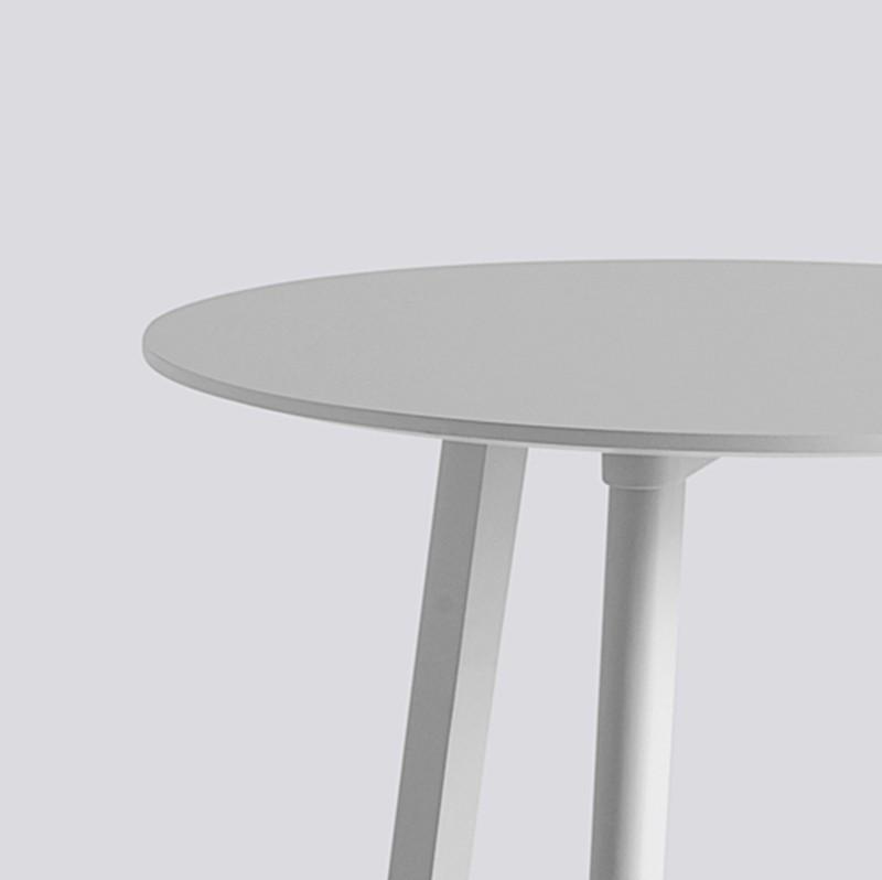 CPH Deux 220 Table Round 75 H73 Light Grey-Light grey laminate.jpg