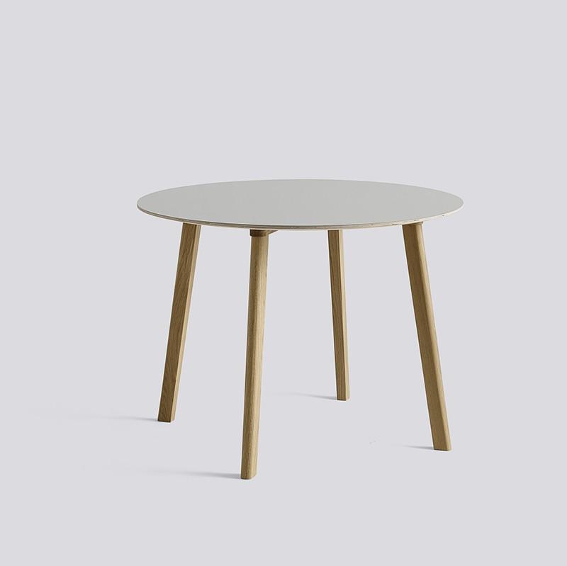 CPH Deux 220 Table Round 98 H73 Oak Matt Lacquer-Light grey laminate_HAY_Livingdesign.jpg
