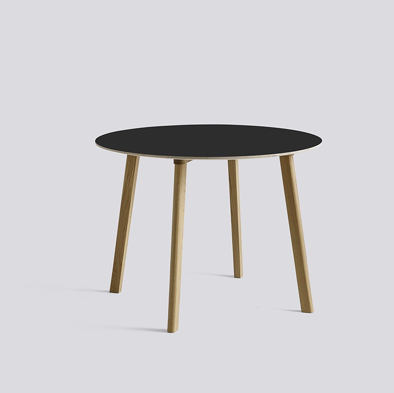 CPH Deux 220 Table Round 98 H73 Oak Matt Lacquer-black laminate_HAY_Livingdesign.jpg