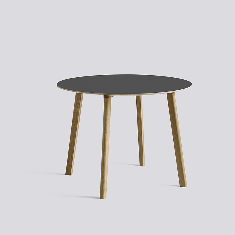 CPH Deux 220 Table Round 98 H73 Oak Matt Lacquer-dark grey laminate_HAY_Livingdesign.jpg