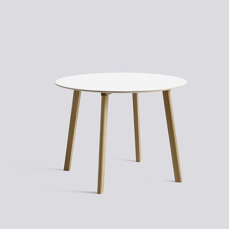 CPH Deux 220 Table Round 98 H73 Oak Matt Lacquer-white laminate_HAY_Livingdesign.jpg