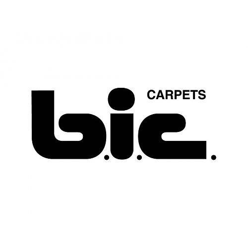 Logo BIC Carpets - zwart op wit