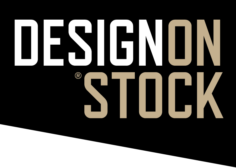 Design On Stock - wit op zwart