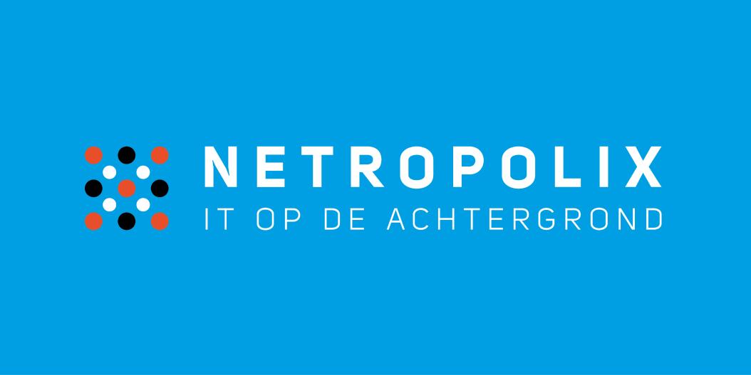 Netropolix logo blauw horizontaal