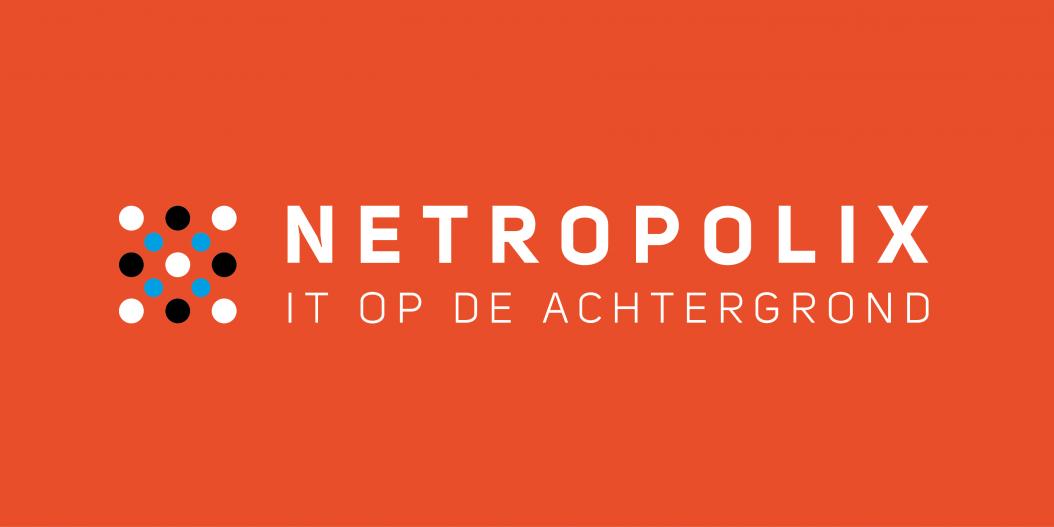 Netropolix logo oranje horizontaal