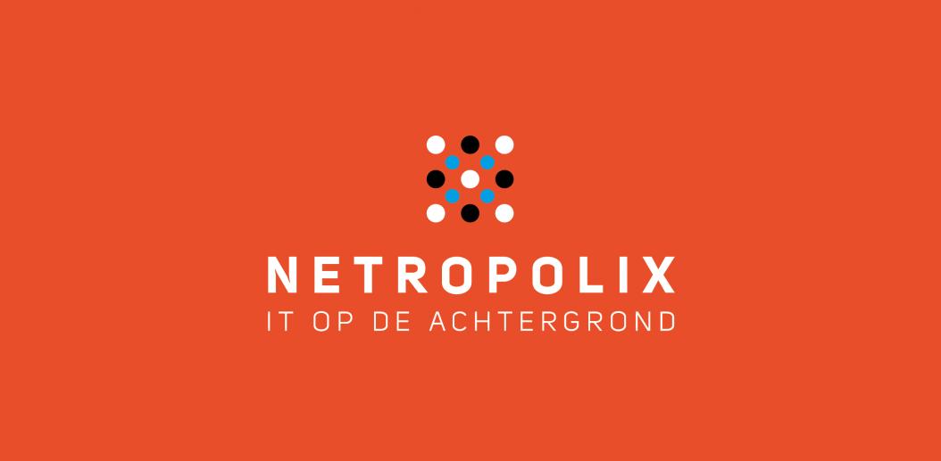 Netropolix logo oranje verticaal