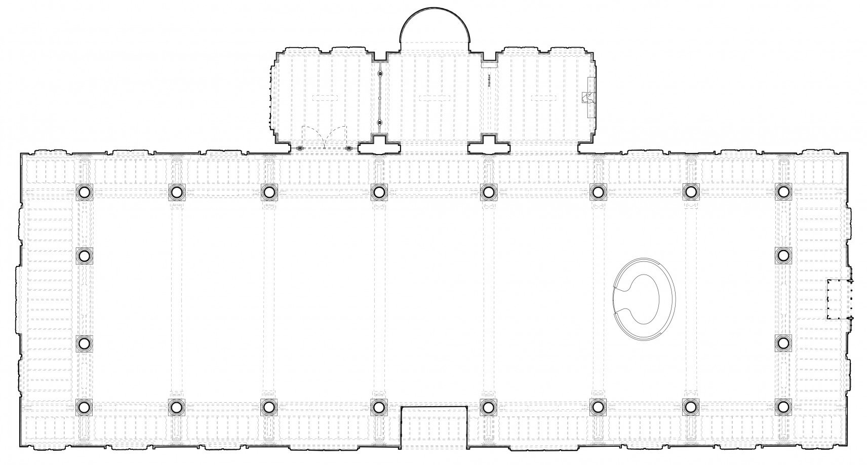 Old courthouse, Antwerp | 2D-drawings plan overview
