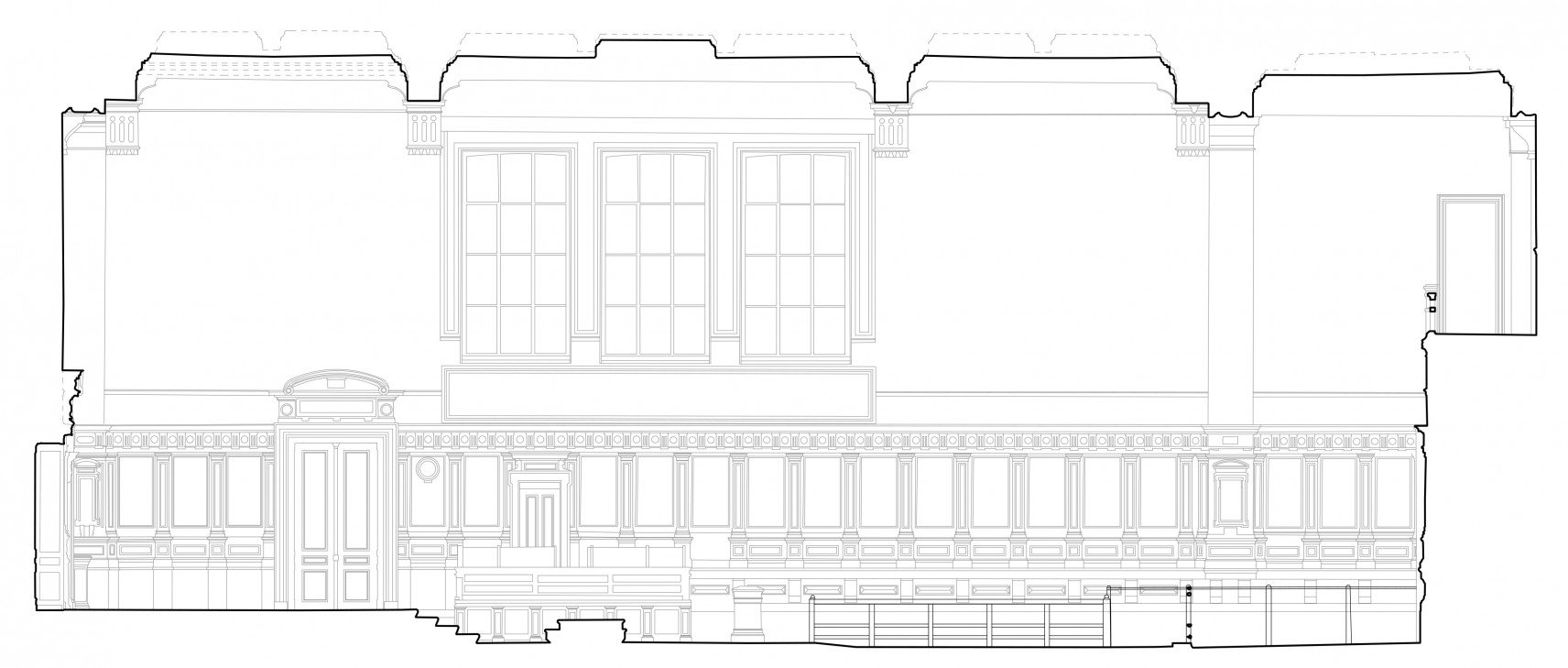 Old courthouse, Antwerp | 2D-drawings section