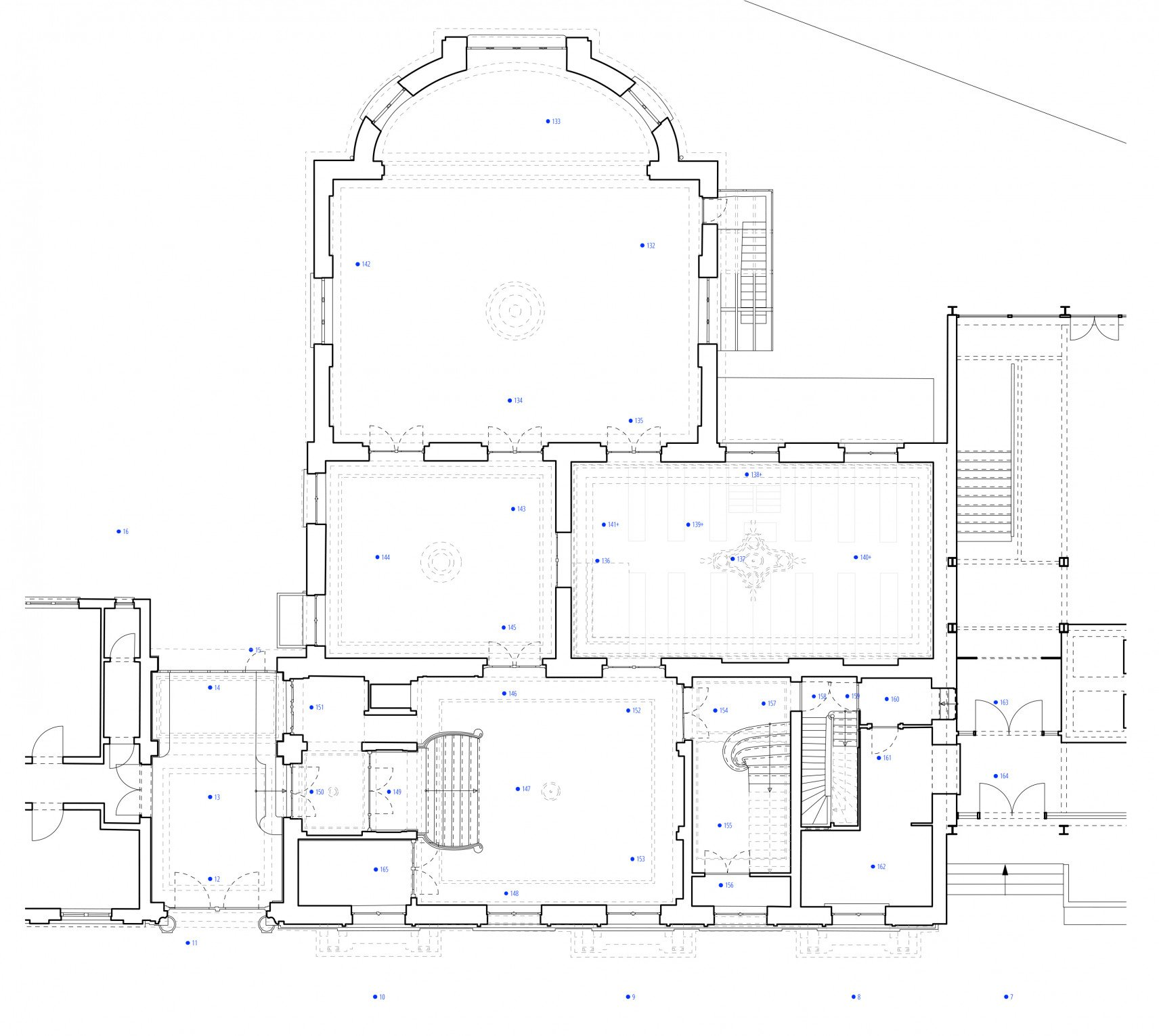 The Mérode, Elsene | 2D drawings plan overview