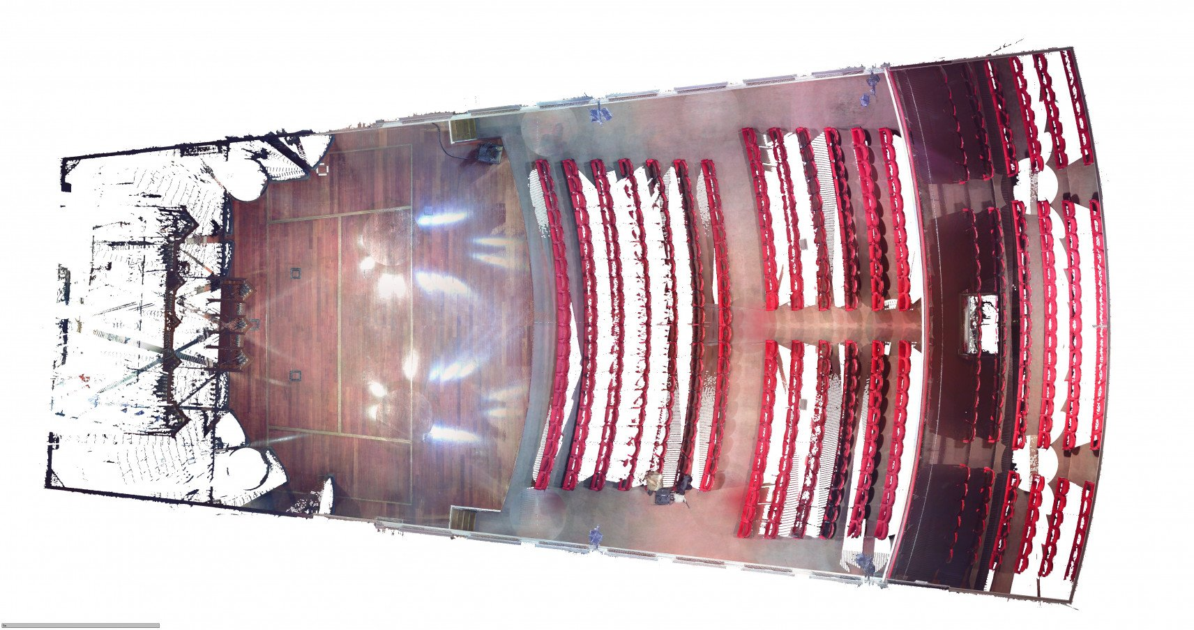 Concert hall MIRY, Ghent | 3D-scan overview