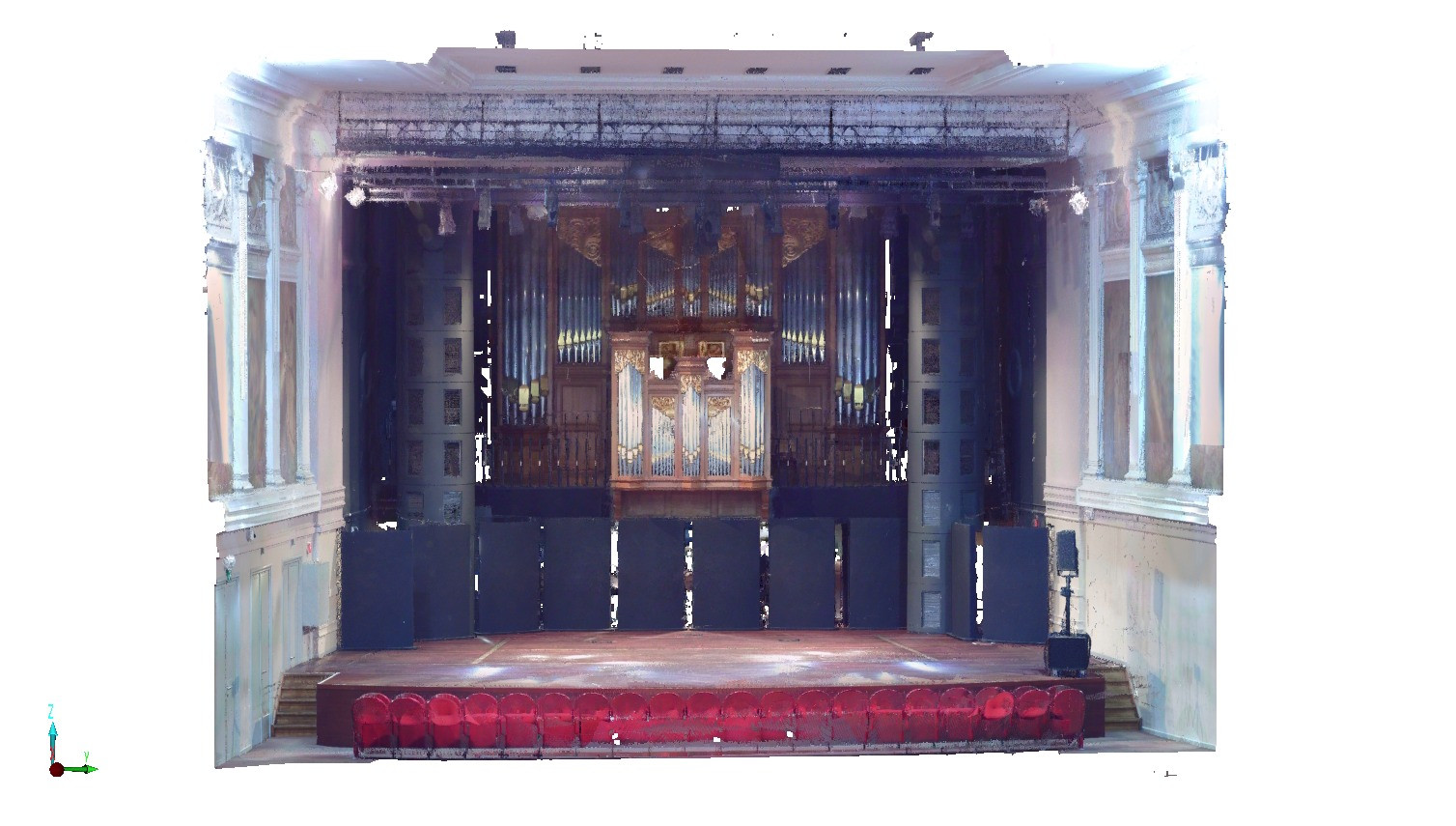 Concert hall MIRY, Ghent | 3D-scan detail