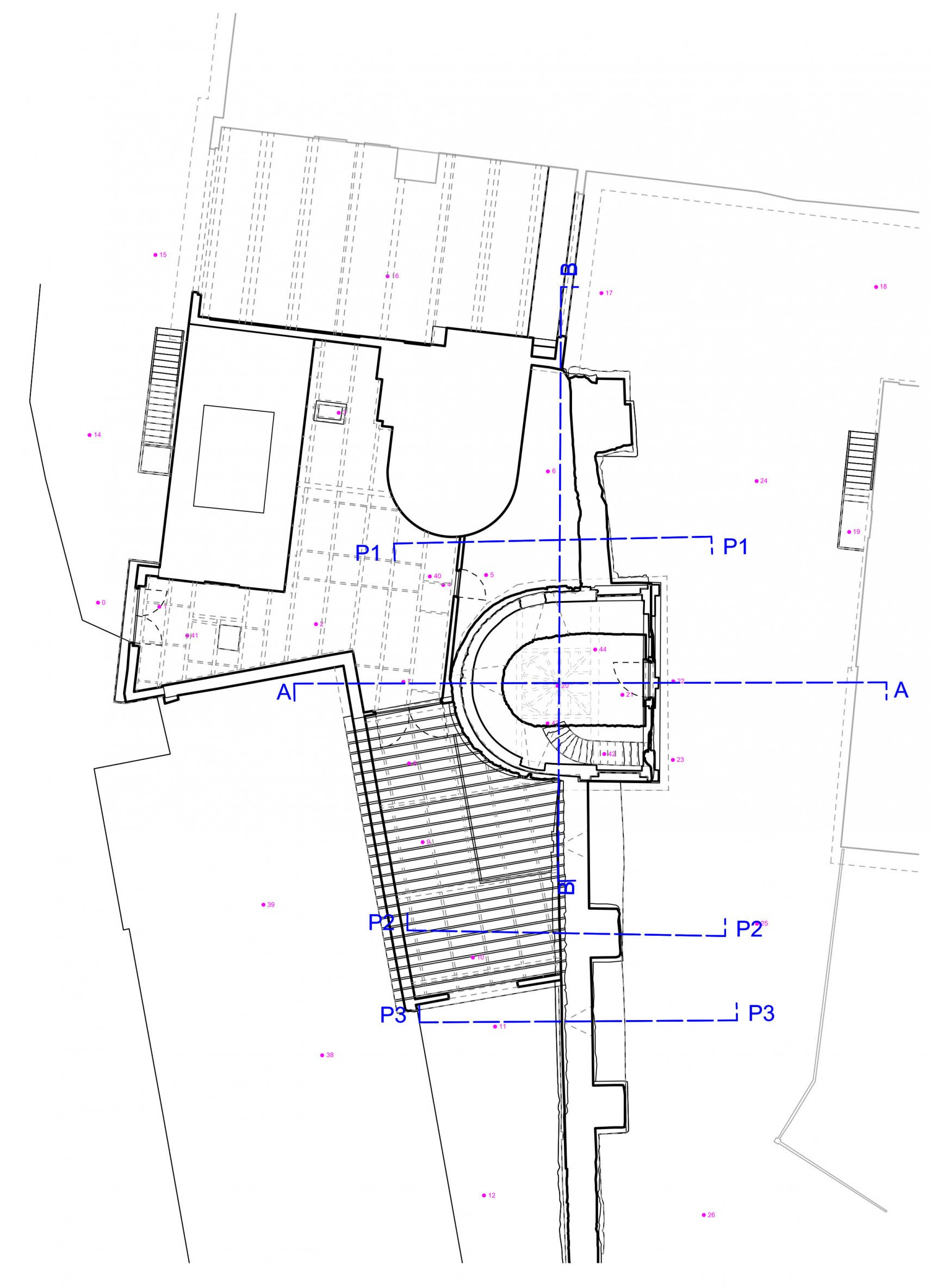 City rampart Leuven | 2D drawings overview