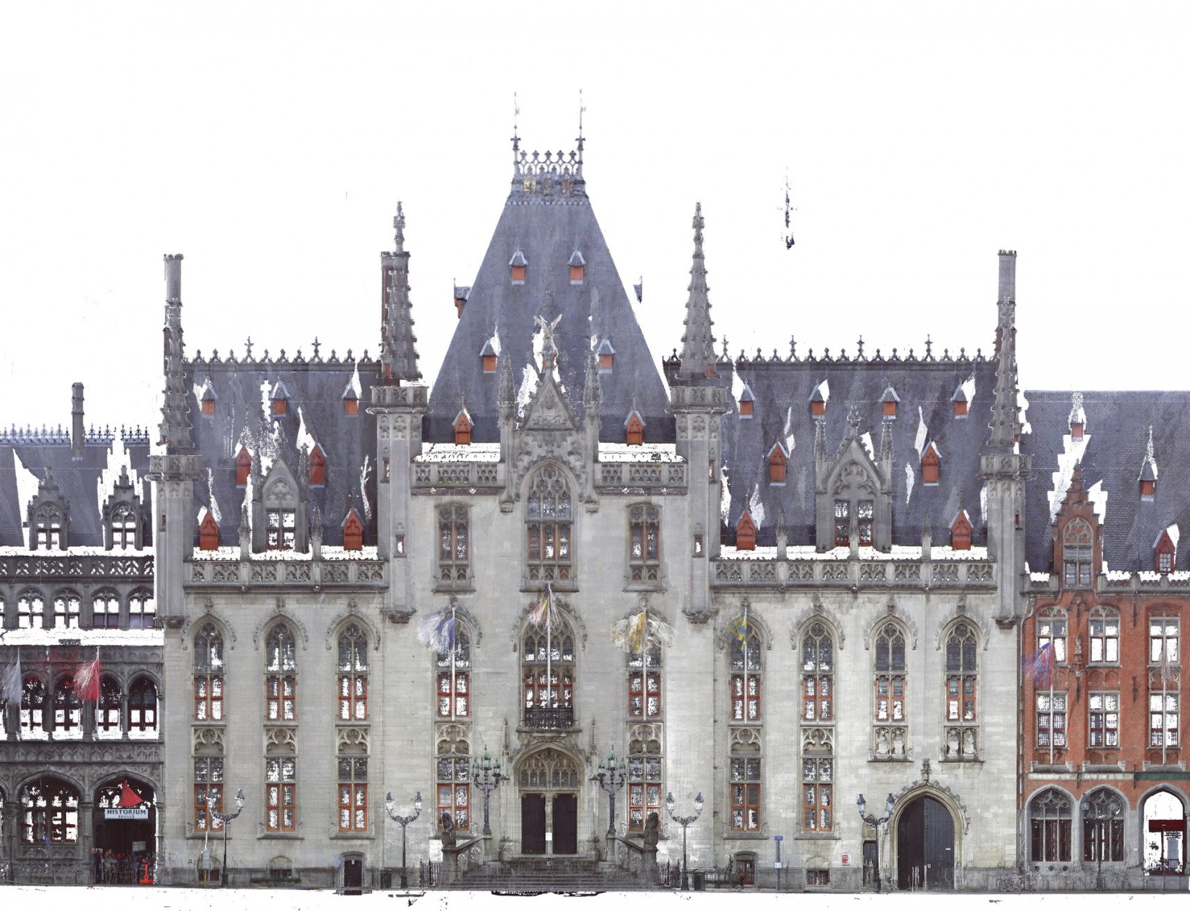 Regional Court, Brugge | 3D animation facade