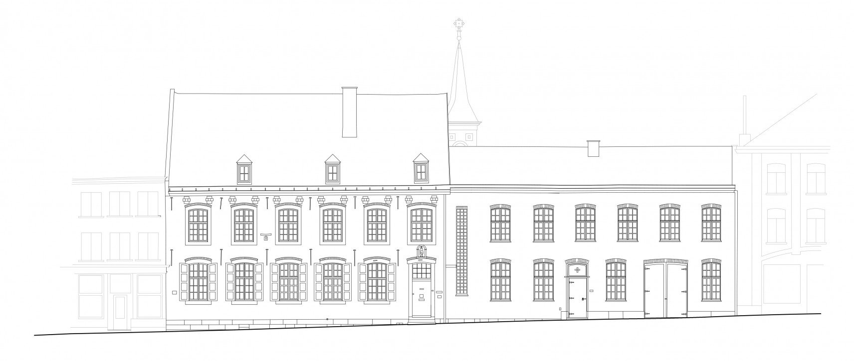 Clarissenklooster, Saint-Trond | 2D-drawings facade