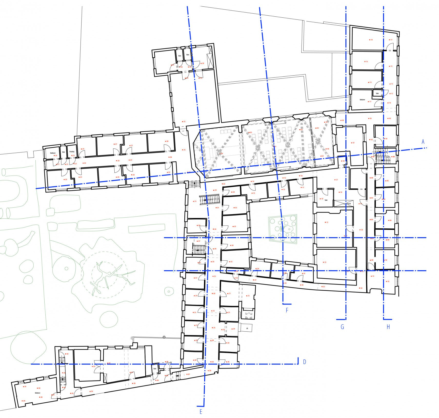 Clarissenklooster, Saint-Trond | 2D-drawings overview detail