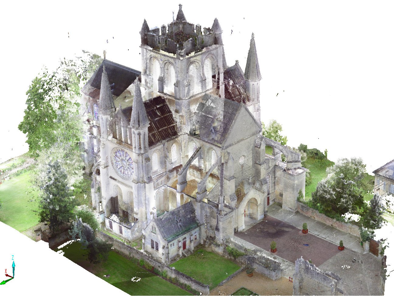 Abbatiale Saint-Yved de Braine, France | 3D-scan