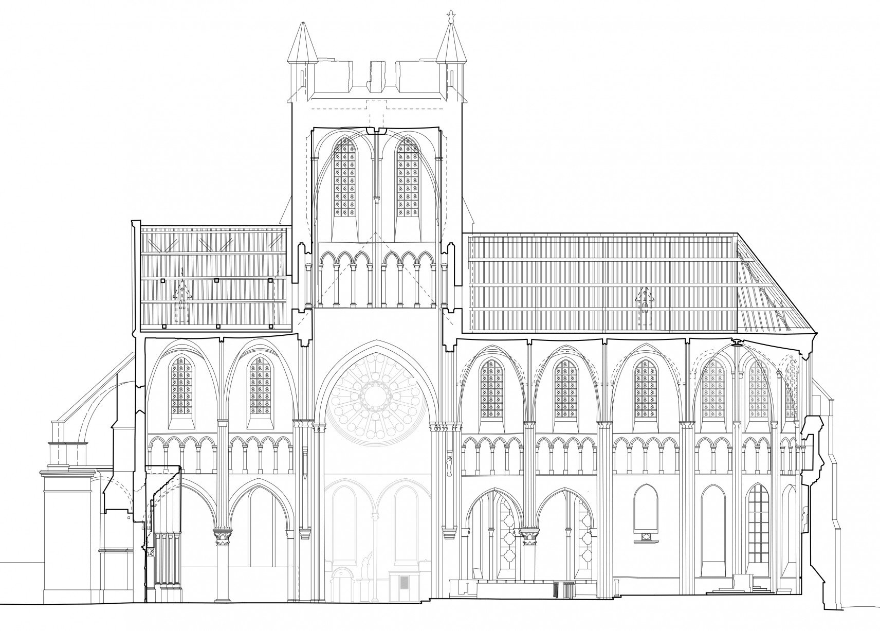 Abbatiale Saint-Yved de Braine, France | 2D-drawings section