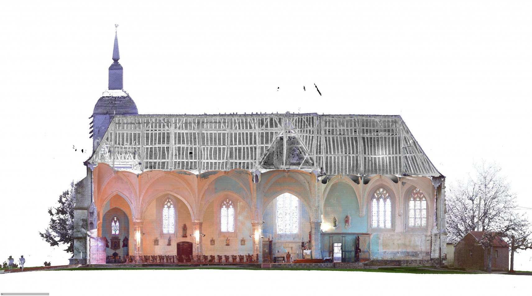 Église Saint-Pierre, Dompierre-sur-Authie | animation en 3D section