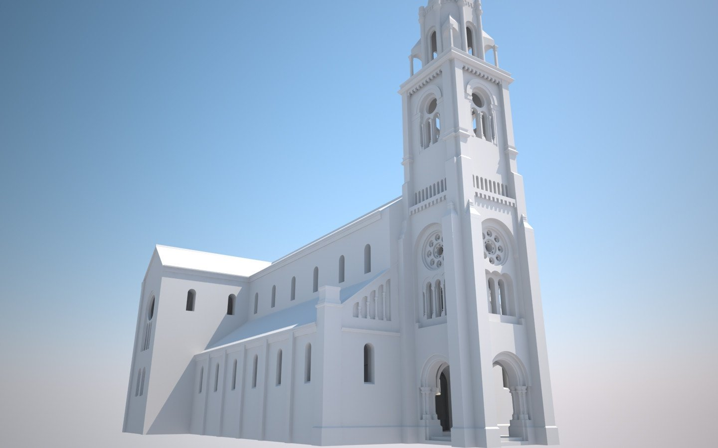 Sint-Amandskerk, Roeselare | 3D-animation side view left