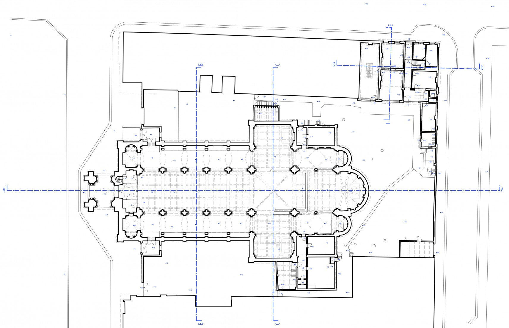 Sint-Amandskerk, Roeselare | 2D-drawings plan overview
